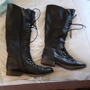 Breckelle's Laceup/Zipper Knee High Combat Boots